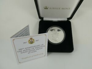JUBILEE MINT 100th ANNIVERSARY HOUSE OF WINDSOR SOLID SILVER £5 PROOF COIN