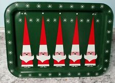 Holt Howard Christmas Tv Lap Tray Vintage Atomic Santa Mid Century Green