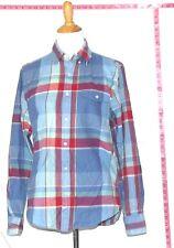 J.Crew Men's Blue & Red Plaid Long Sleeve Cotton Dress Shirt Sz M #3276