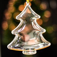 x20 Clear Large Christmas Tree Shaped Xmas Decorations Empty Fillable Bauble