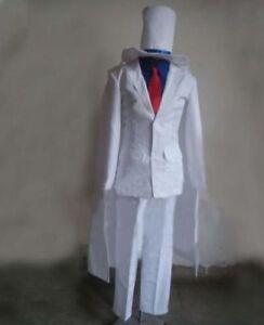 Kaitō Kid Kaito Kuroba Detective Conan Case Closed Cosplay Costume Custom Made{H