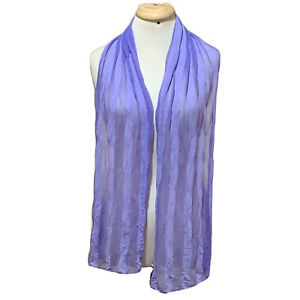AZOZA STRIPED PURPLE LONG POLYESTER Scarf 74/13  in #A6