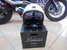 Casco Helmet Scooter moto vintage Motocubo bianco taglia L