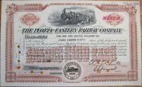 Peoria & Eastern Railway Company 1956 Railroad Stock Certificate