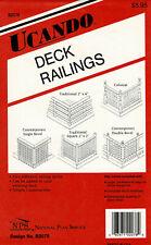 Ucando Woodworking Pattern B2078 Five Styles of Deck Railings Unused