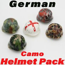 LEGO WWII Camo Stahlhelm Helmet Pack Printed 5 Pack Army Soldier Military Lot