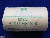 Australia. 1972  20c Mint Roll.......(20 coins  UNC/BU)  RAM wrapper