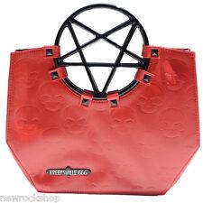 NEW KREEPSVILLE 666 Pentagramma Manico Borsetta Bag Red