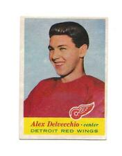 1957-58 Topps:#34 Alex Delvecchio,Red Wings