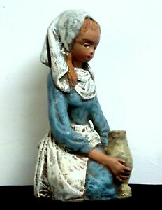 Girl with Vase Borzo Stone Sculpture Made in Holland