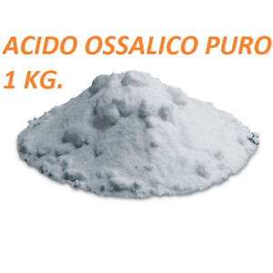 Apicor 1 Kg. Acido Ossalico Diidrato Microcristalli Apicoltura Uso Professionale