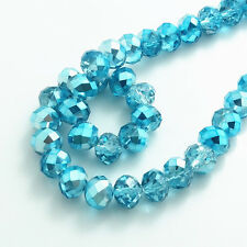Wholesale new 100pcs Rondelle Faceted Crystal Glass Loose Spacer Beads diy 6mm