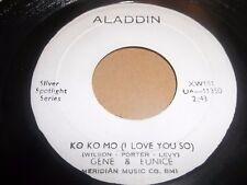 "GENE & EUNICE "" KO KO MO ( I LOVE YOU SO ) "" RARE ALADDIN BOOTLEG 7"" SINGLE"