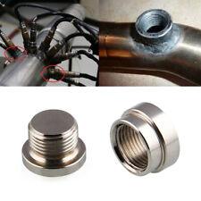 O2 Oxygen Sensor Metal Weld On Bung & Plug Wideband Nut & Cap Kit Set US