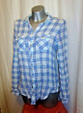 Ladies ABERCROMBIE & FITCH long/roll up  sleeve checked plaid shirt sz XS LOVELY