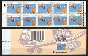 AUSTRALIA 1990, SPORTS: SKATEBOARDING, Scott 1119a COMPLETE BOOKLET, MNH