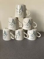 CORELLE Coordinates Stoneware Coastal Breeze -6- Coffee Mugs WHEAT PATTERN EC