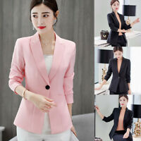 Fashion Ladies Women Long Sleeve Slim Work Business Suit Coat Jacket Blazer Tops