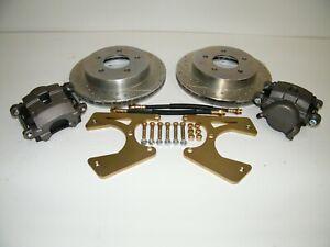 C10 5 Lug Rear Disc Brake Conversion Kit Drilled & Slotted Rotors 1973-1987