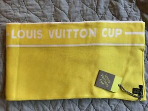 NEW Louis Vuitton Cup Scarf Shawl Yellow 85% Cotton 15% Cashmere