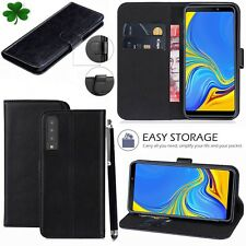 samsung galaxy  A7 2018 PU Leather new book case cover black