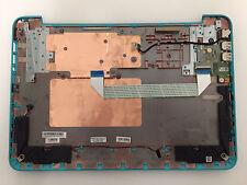 HP Chromebook 14-x010wm BOTTOM BASE ENCLOSURE TURQUOISE 787697-001, POWER JACK