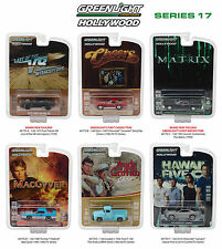 HOLLYWOOD SERIES / RELEASE 17, SET OF 6 CARS 1/64 DIECAST BY GREENLIGHT 44770