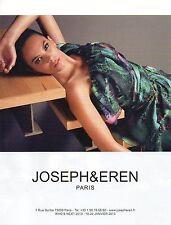 Publicité 2013  JOSEPH & EREN pret à porter collection mode vetement