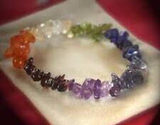 Chakra Chip Bracelet Amethyst Peridot Iolite Lapis Citrine Garnet Bracelet Gift.