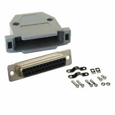 DB25 D-SUB 25-Pin Female Solder Cup Serial RS232 Connector + Plastic Hood Shell