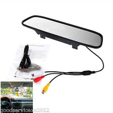 "New 4.3"" LCD Car SUV Rearview Mirror Colourful Monitor For Reverse Backup Camera"
