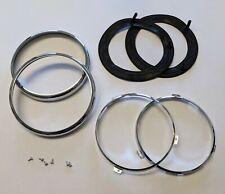 MG MGB/ MGB GT Chrome Headlamp Rim & Seal Kit (Clip On Rims)