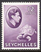 Seychelles1938 reddish-violet 12c multi-script chalk paper mint SG139