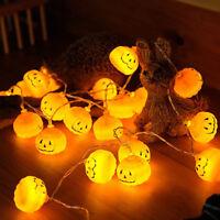 Halloween Pumpkin String Lights Hanging Lantern Lamp Home Party Decor Warm White
