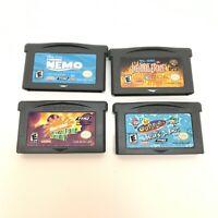 Lot of 4 Nintendo Game Boy Advance GBA Games Odd Parents Nemo Tom Jerry Nicktoon