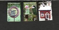 2011 Suomi  Finland SCOTT #1370a-c  MAILBOXES  Θ used stamps