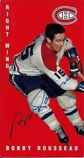 Autographed 1994 Parkhurst Tall Boy Bobby Rousseau Card #84 Montreal Canadiens