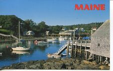 POST CARD OF NEW HARBOR MAINE ON A BEAUTIFUL DAY