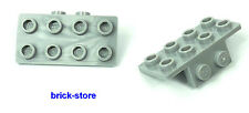 LEGO / gris clair / 1x2-2x4 Angle Plaque / 2 Pièces