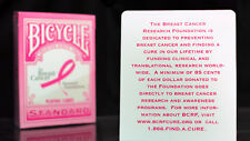 PINK RIBBON Playing Cards deck Bicycle USPCC 10% goes to Breast Cancer Research