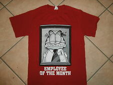 GARFIELD EMPLOYEE OF THE MONTH T SHIRT Office Work Politics Cat Suit Tie SMALL