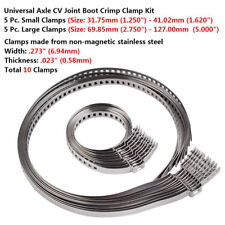 10Pcs Universal Adjustable AXLE CV Joint Boot Crimp Clamp Kit 31- 41mm 70- 125mm