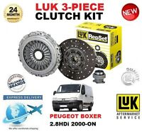 FOR PEUGEOT BOXER 2.8 HDi 4x4 CLUTCH KIT 2000-ON LUK 3 PIECE 128BHP 146BHP