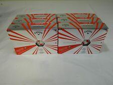 6 Dozen New Callaway Chrome Soft X Truvis White & Red - Soccer Golf balls 6dz