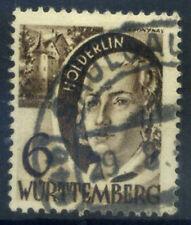 Wurttemberg-Honenzollern 1948 Mi. 14-27 Usato 100% 6 Pf, Personalità