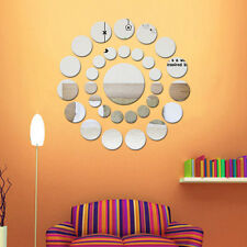31Pcs 3D Round Mirror Wall Sticker Decor Decal Art Mural Home Bathroom DIY