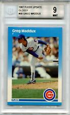 1987 Fleer Update Glossy Greg Maddux RC #68 Beckett 9 Baseball Cubs Braves HOF