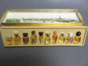 Mini Perfume Bottle Set of 10 in Box LES MEILLEURS PARFUMS DE PARIS 1950's