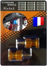 2 Diabolos anodisés Dorés pour béquille stand atelier Honda Suzuki KTM