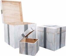 """""""Regalo"""" cajas de madera en el pecho solución de almacenamiento de Madera Decoración Regalo De Tienda Elegante Nuevo"""